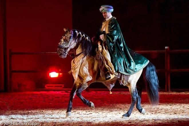 Re magi a cavallo a Roma per il giorno dell'epifania