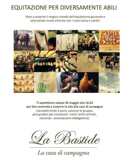 Il maneggio La Bastide organizza un evento per presentare le nuove lezioni di equitazione per le persone diversamente abili