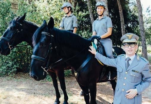 Il nucleo della forestale a cavallo arriva a Pescara nella riserva dannunziani