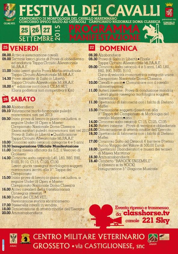 Festival dei cavalli 2015 a Grosseto